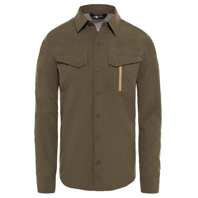 Sequoia L/S shirt - Taupe Green