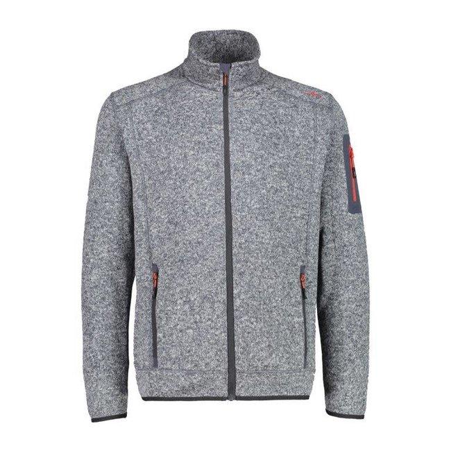 Man Fleece Jacket - Titanio/Bianco