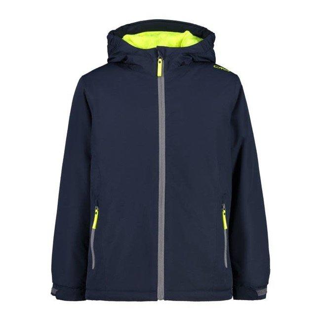 Kids Jacket fix hoody - Blue/yellow Fluor