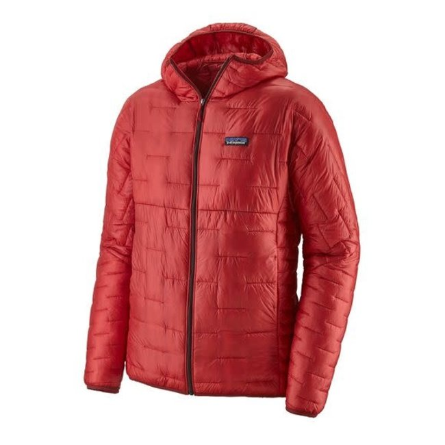 M''s Micro Puff® Hoody - Fire red