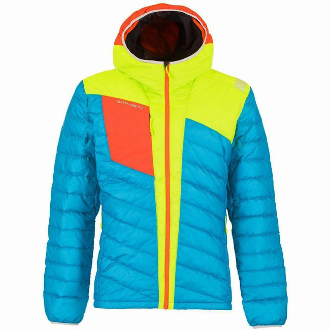 Conquest Down Jacket - Tropic Blue/Apple Green