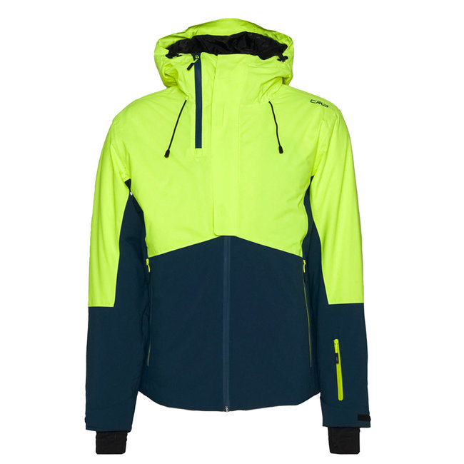 Man Mid Jacket Fix Hood - Color: Fluor Yellow/Blue