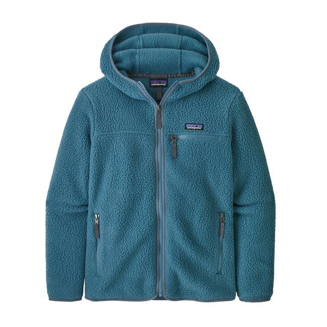 W's Retro pile Hoody - Abalone blue