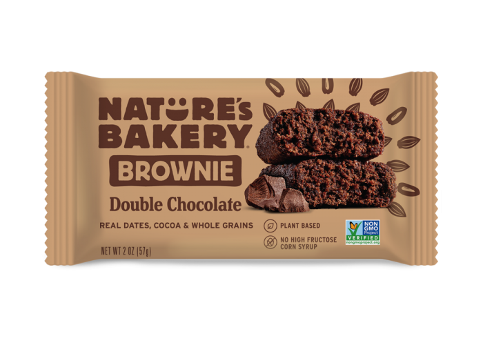 NATURES BAKERY NATURES BAKERY DOUBLE CHOCOLATE BROWNIE 57G