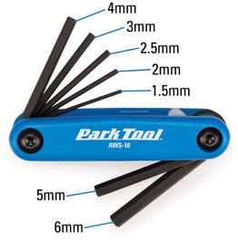 PARK TOOL PARK TOOL FOLD UP HEX WRENCH SET AWS-10