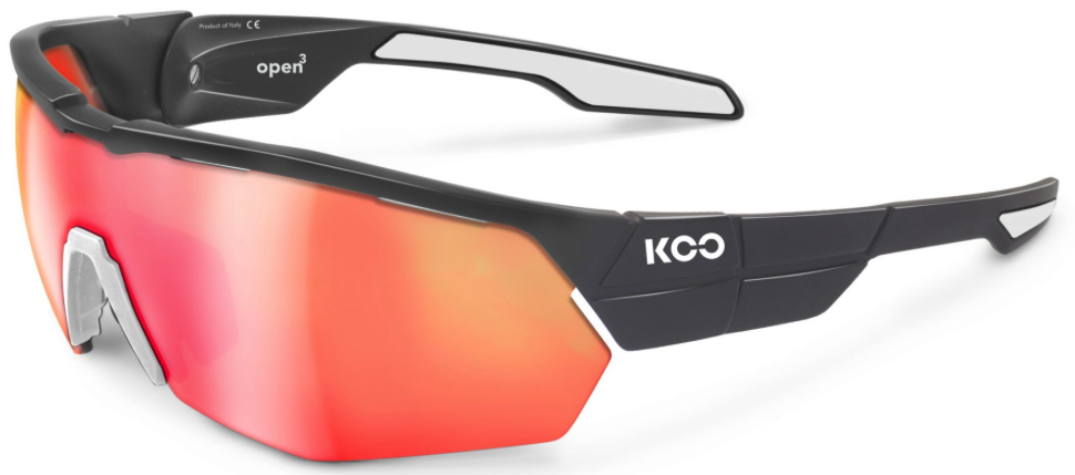KASK KASK SUNGLASSES OPEN, ANTHRACITE, MATT/WHITE, RED MIRROR LENS, M ASIAN FIT, CUBE