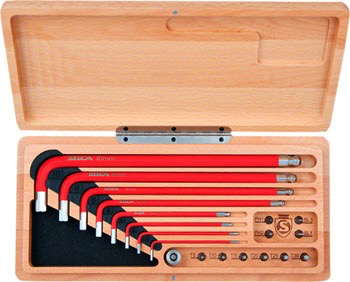 SILCA SILCA TOOL HX-ONE HEX WRENCHES AND DRIVE WITH WOOD CASE