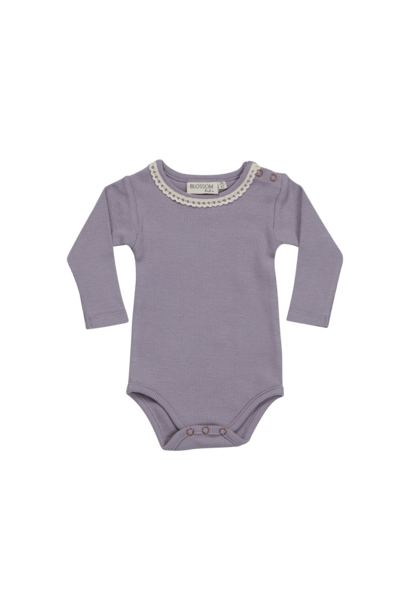 Blossom Kids Body long sleeve with lace - Lavender Blue
