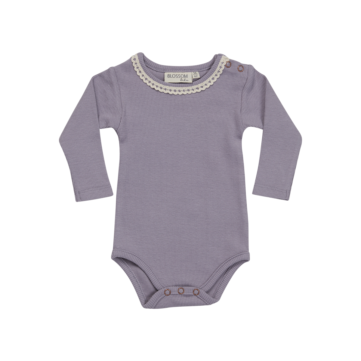 Blossom Kids Body long sleeve with lace - Lavender Blue-1