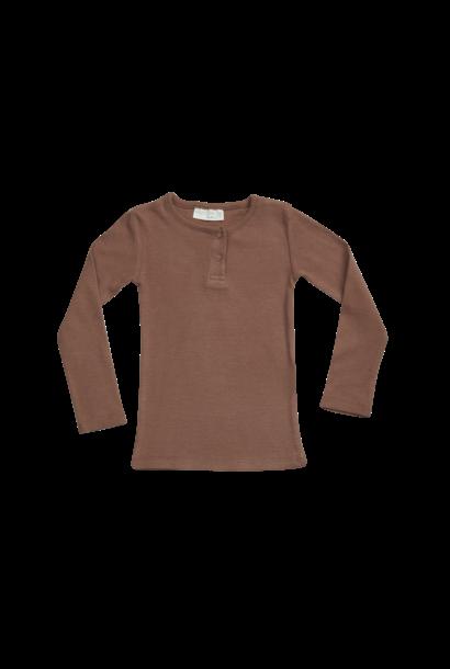 Blossom Kids Long sleeve - soft rib - Smoked Hazelnut