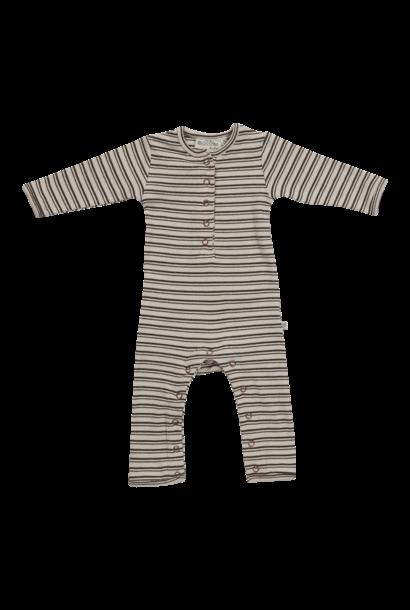Blossom Kids Playsuit - stripes - Cinnamon