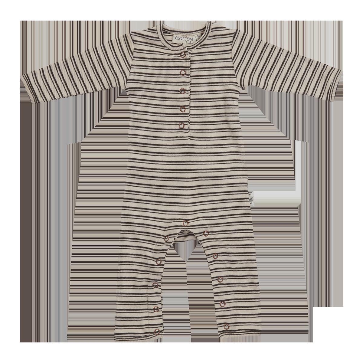 Blossom Kids Playsuit - stripes - Cinnamon-1