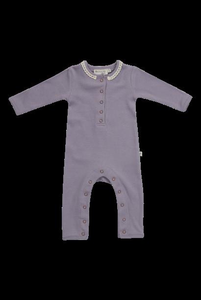 Blossom Kids Playsuit - soft rib - Lavender Grey