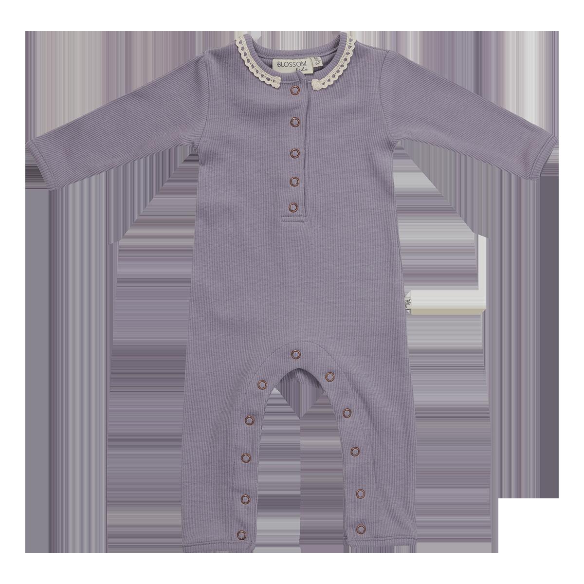 Blossom Kids Playsuit - soft rib - Lavender Grey-1