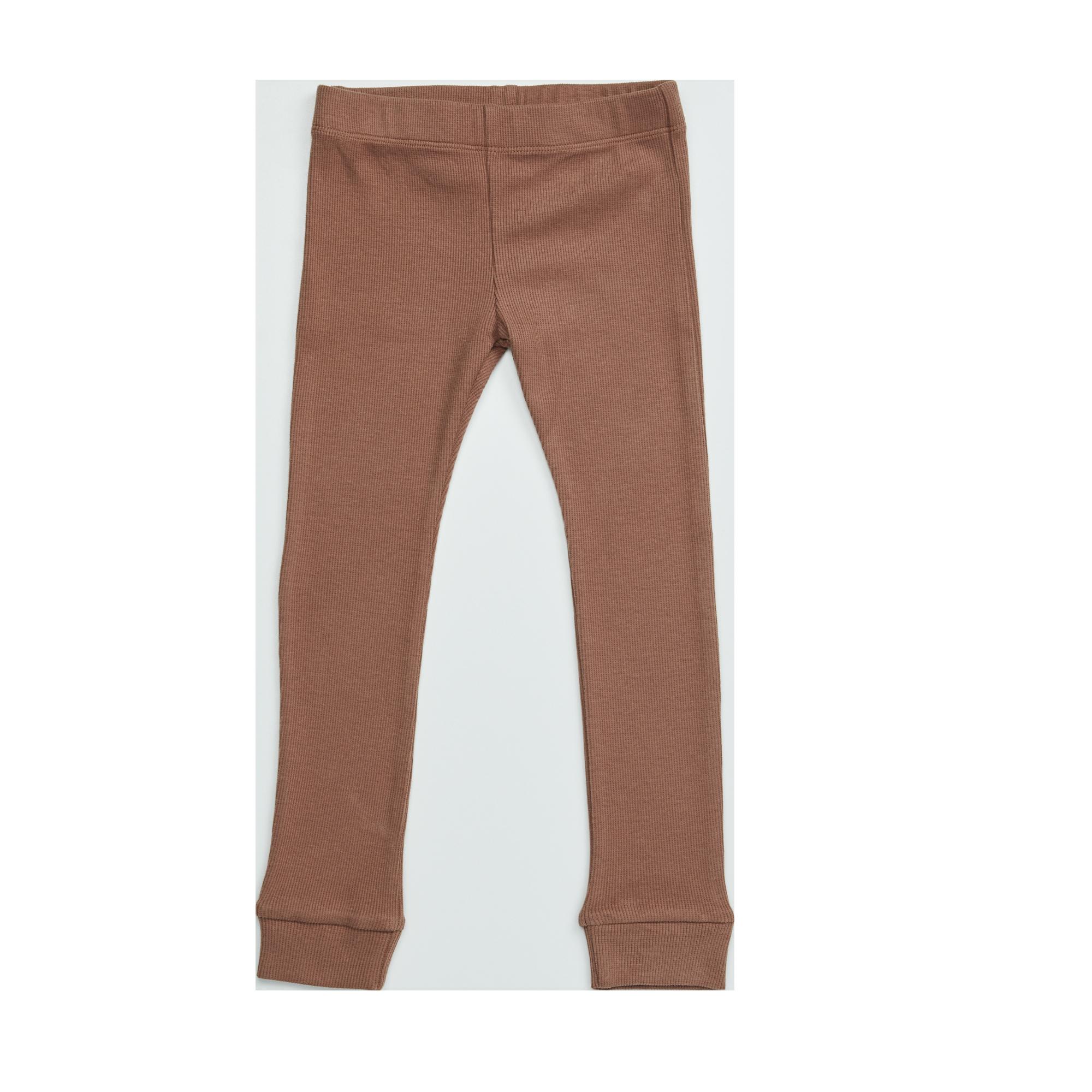 Blossom Kids Legging - soft rib - Smoked Hazelnut-1