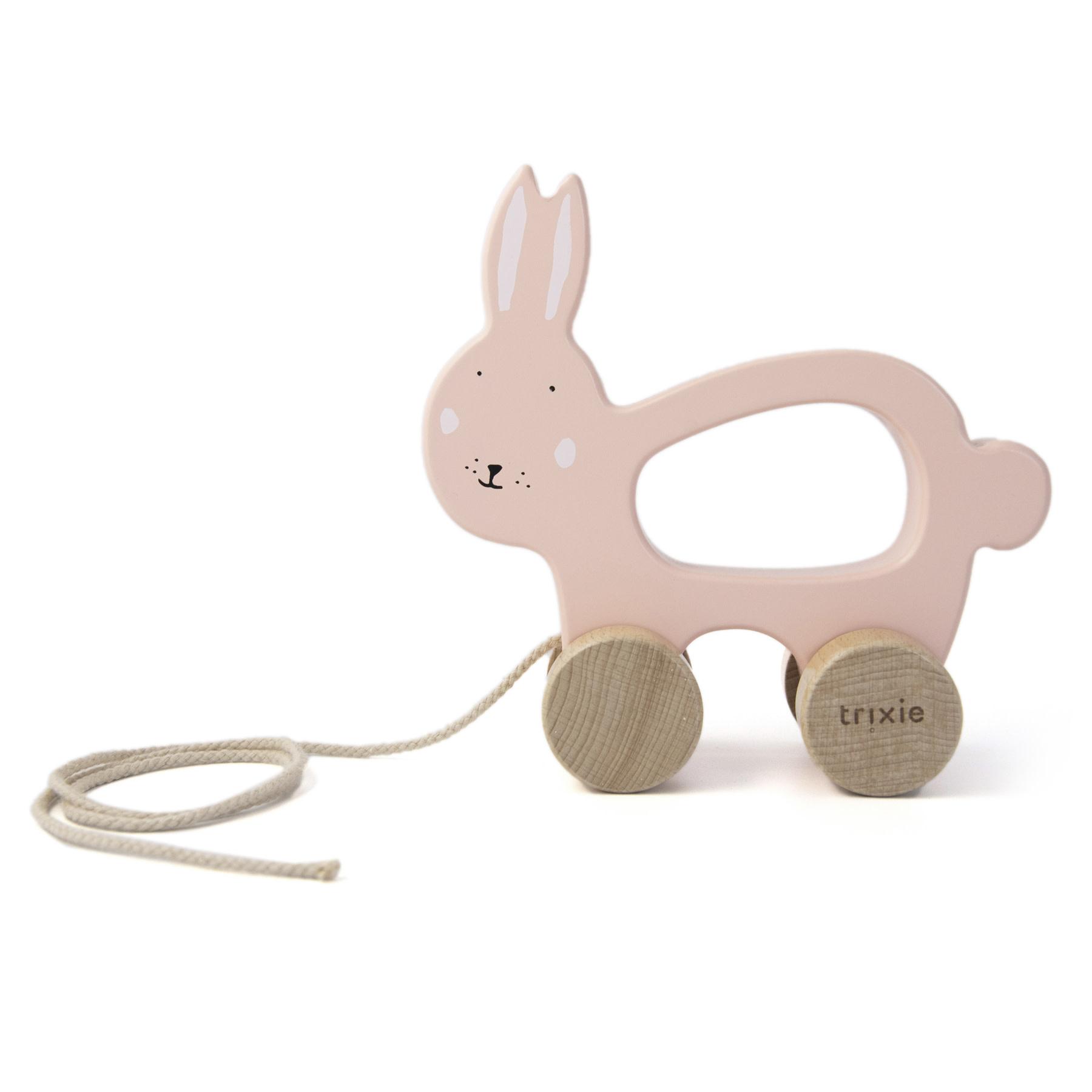 Trixie Houten trekspeeltje – Mrs. Rabbit-1