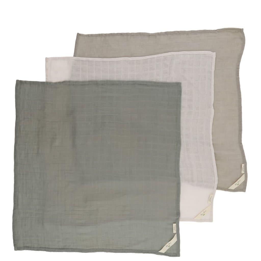 Konges Sløjd 3-pak hydrofiele doeken- Lime stone-2