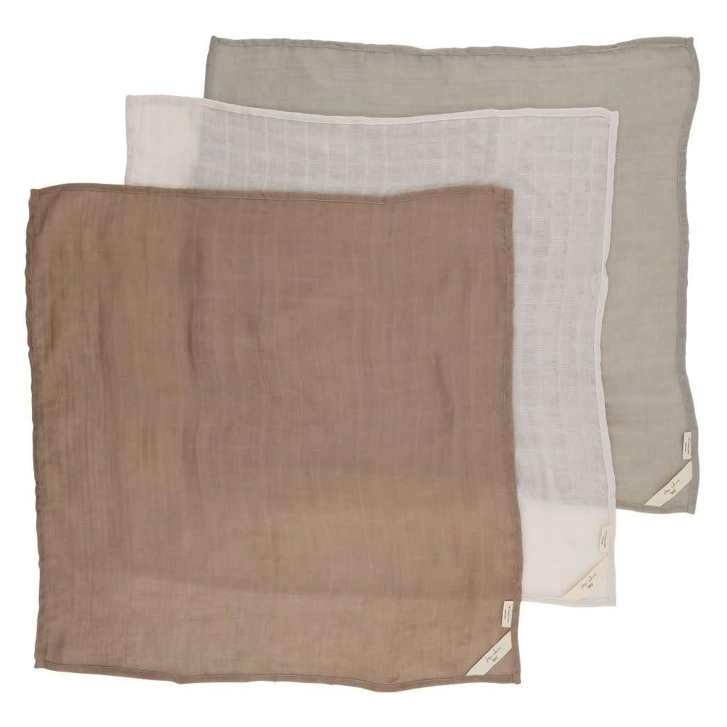 Konges Sløjd 3-pak hydrofiele doeken- Rose dust-4