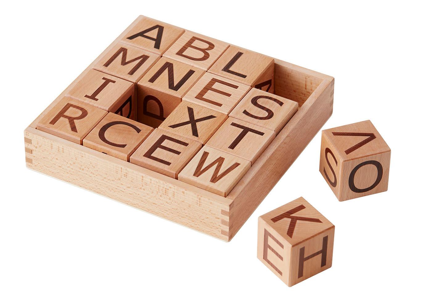 Kid's concept houten blokken alfabet - Neo-1