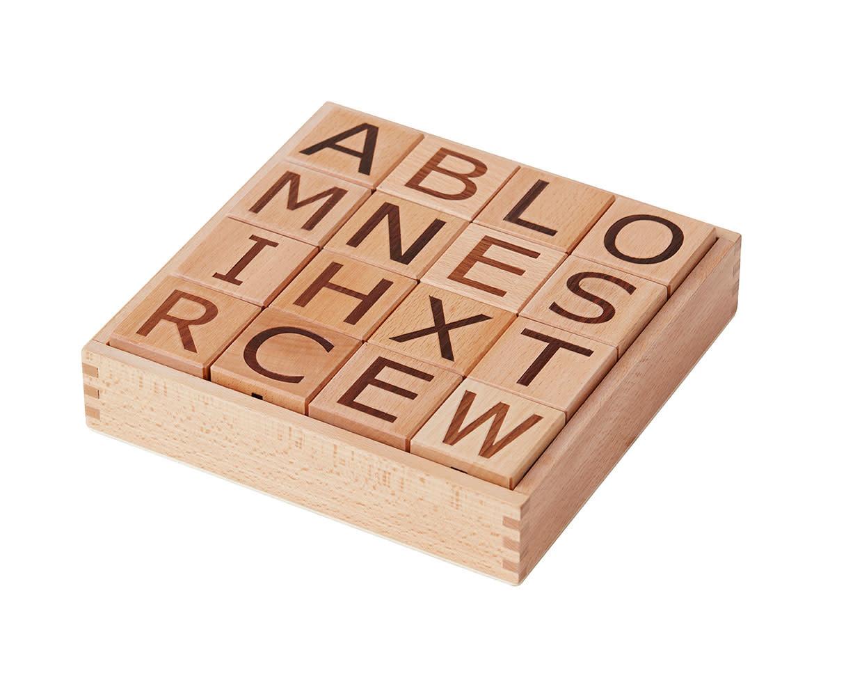 Kid's concept houten blokken alfabet - Neo-3