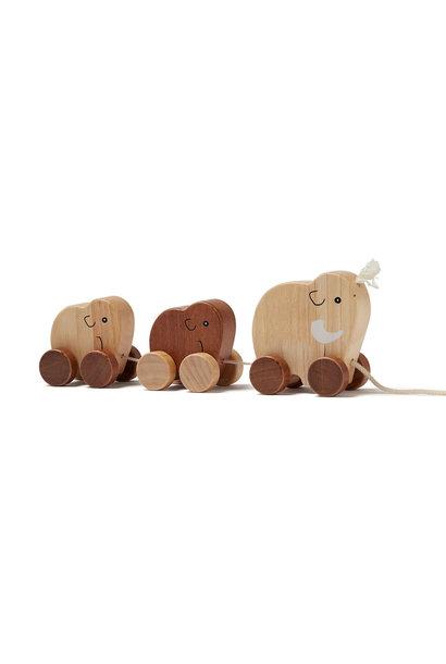 Kid's concept houten trekspeeltje mammoet - Neo