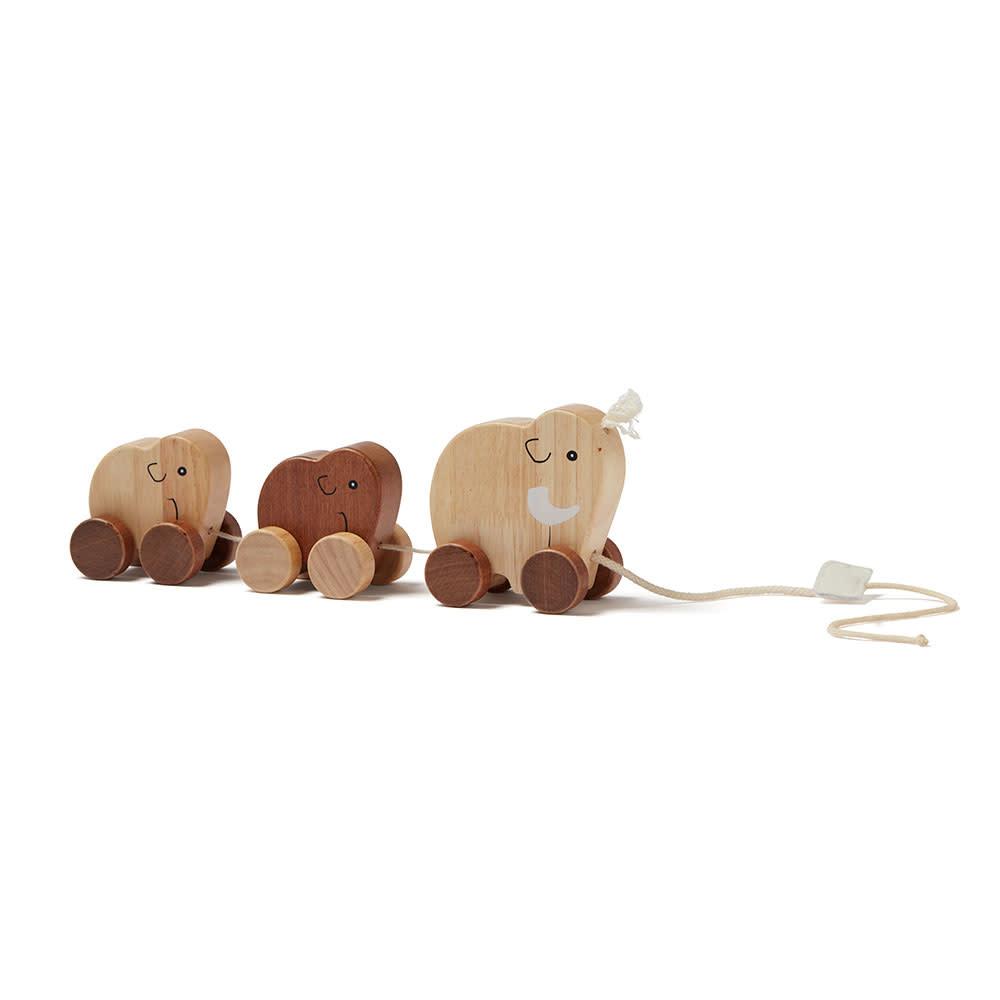 Kid's concept houten trekspeeltje mammoet - Neo-2
