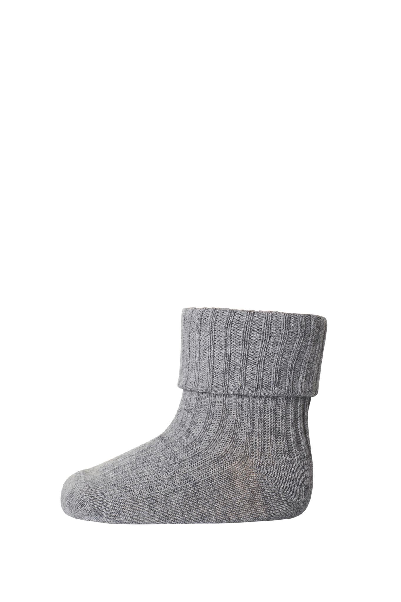MP Denmark cotton rib sokjes - 491 grey melange-1