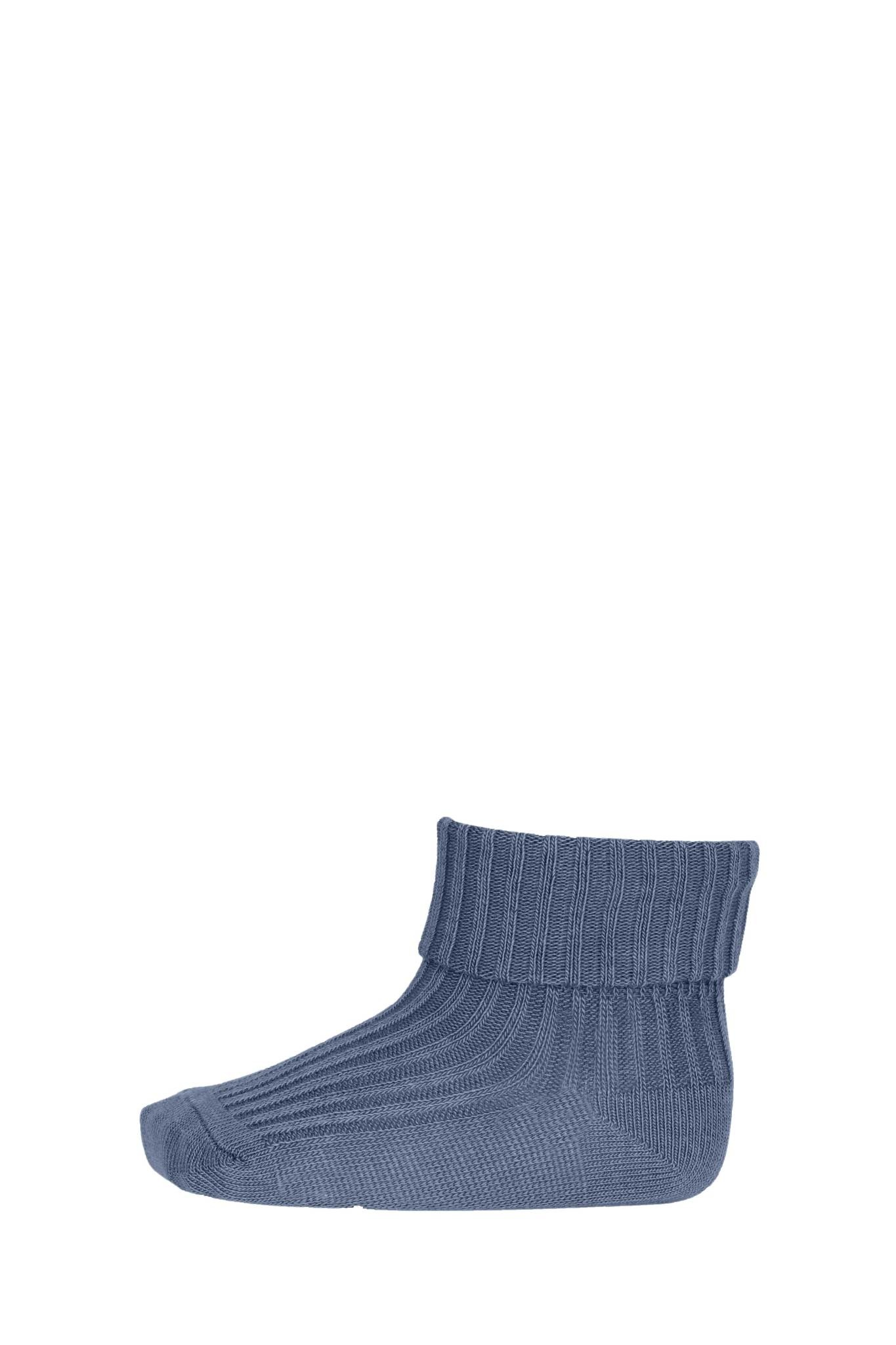 MP Denmark cotton rib sokjes - 4222 stone blue-1