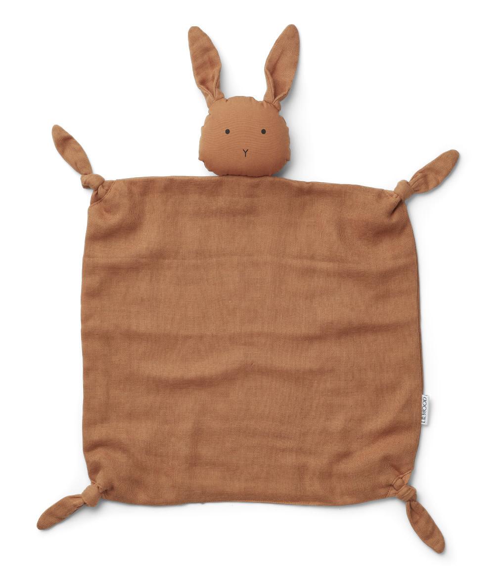 Liewood agnete knuffeldoek -  Rabbit sienna-1