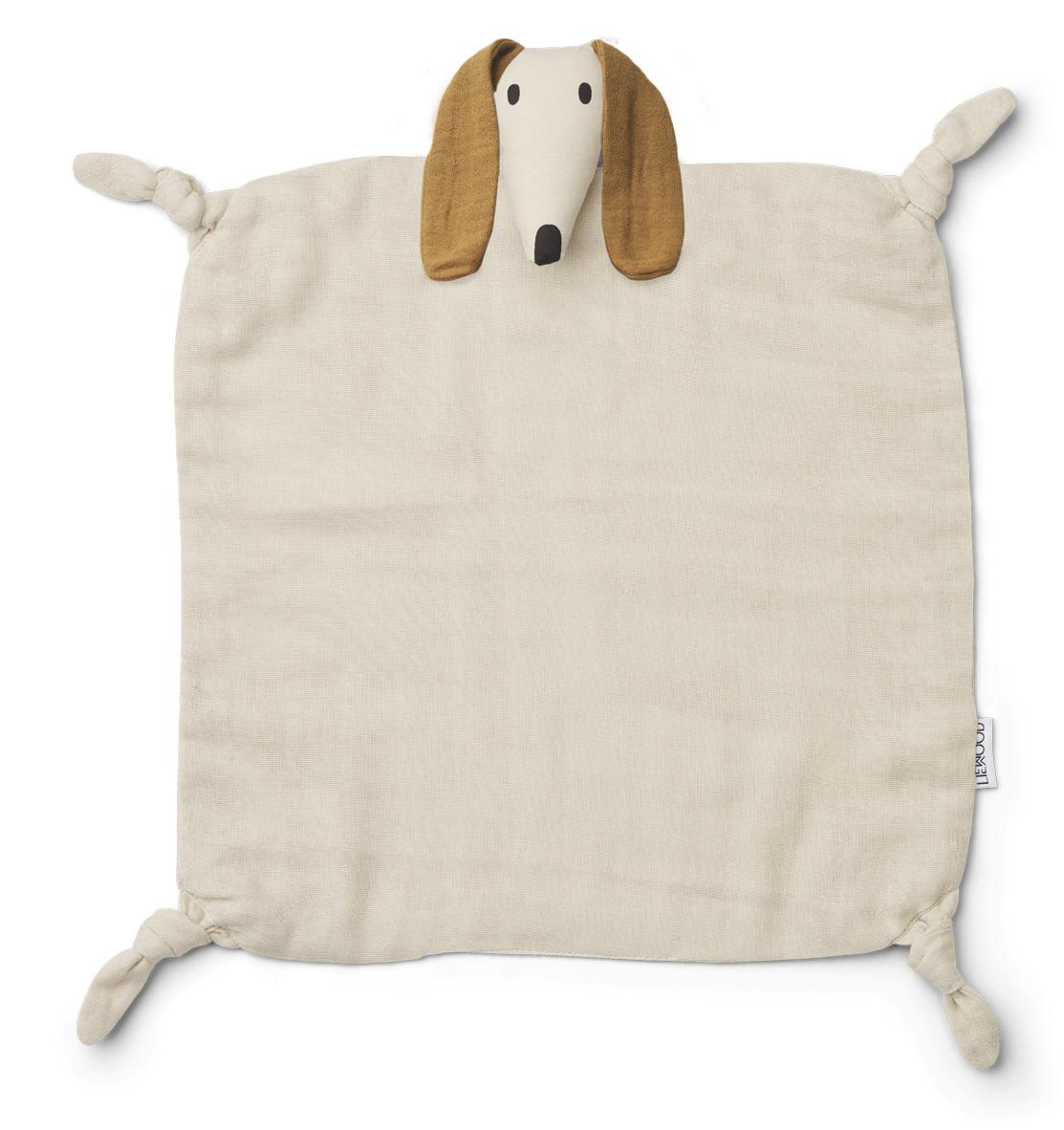 Liewood agnete knuffeldoek - Dog Sandy-1