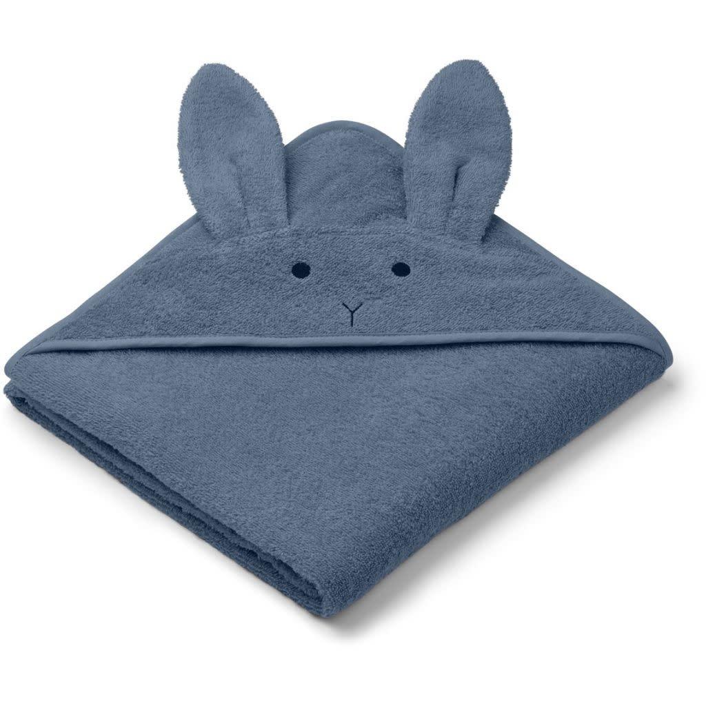 Liewood augusta badcape - Rabbit blue wave-1
