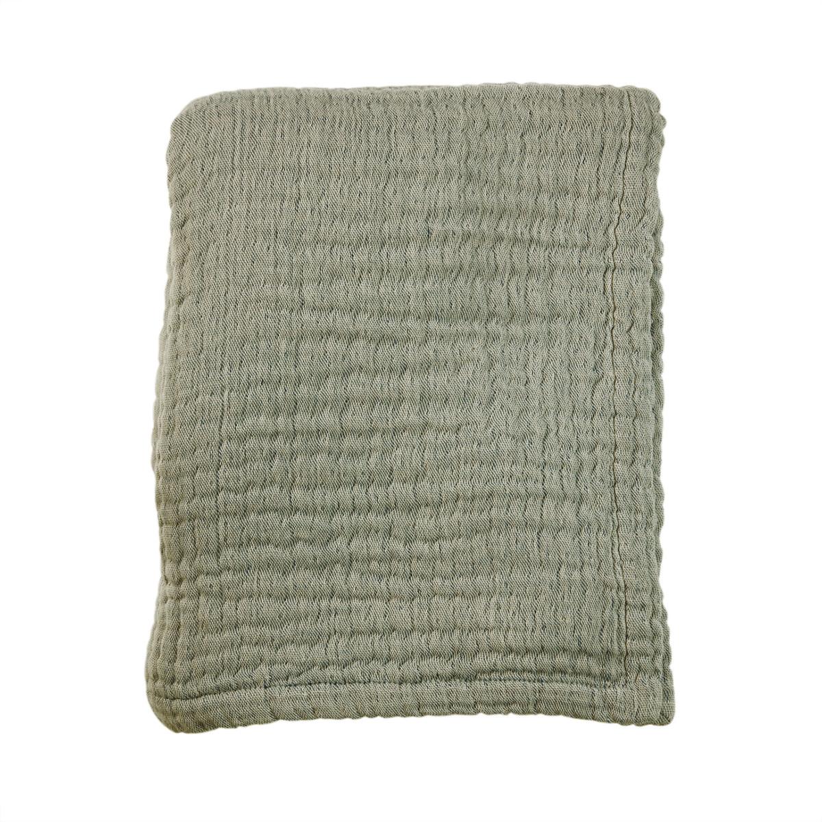 Mies & Co wieg deken mousseline thyme green-1