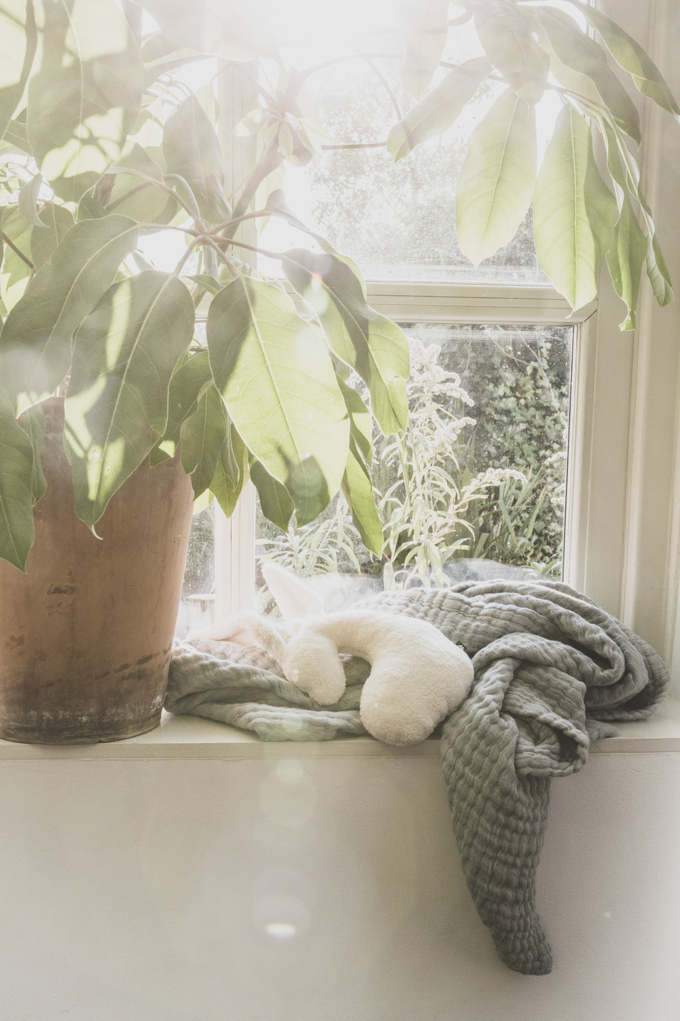 Mies & Co ledikant deken mousseline thyme green-2
