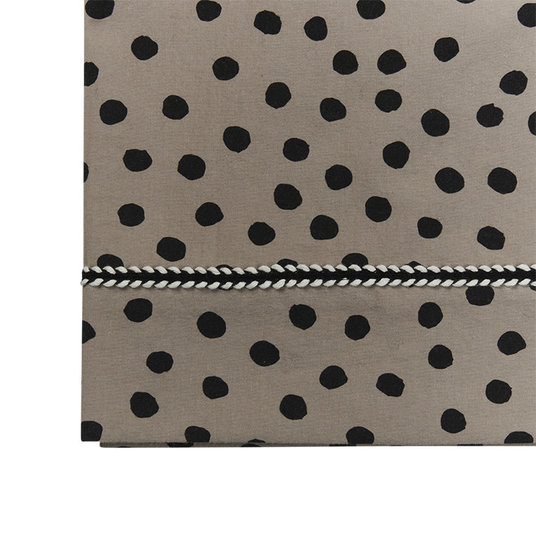 Mies & Co wieg laken bold dots dark brown-1