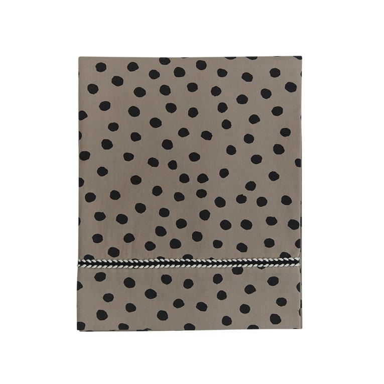 Mies & Co wieg laken bold dots dark brown-2