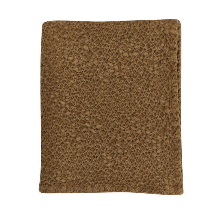 Mies & Co honeycomb ledikant deken bronze mist-1