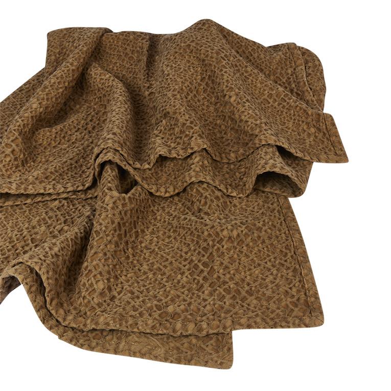 Mies & Co honeycomb ledikant deken bronze mist-2