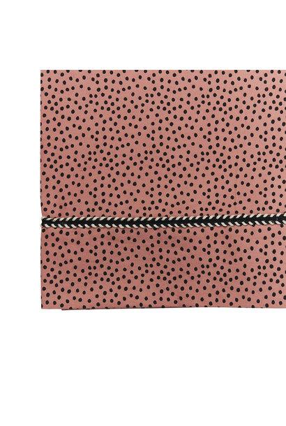 Mies & Co wieg laken cozy dots redwood