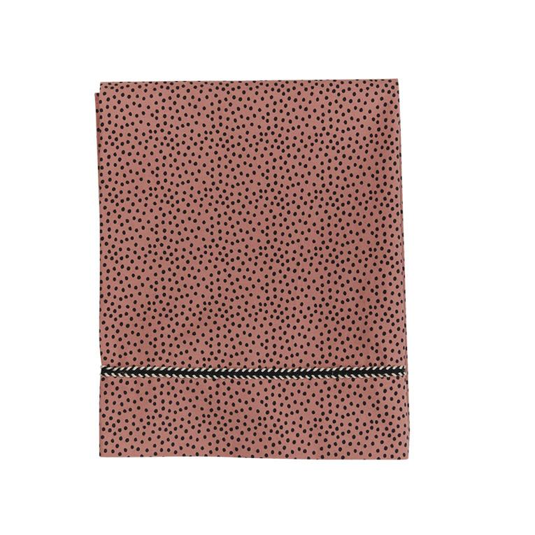 Mies & Co wieg laken cozy dots redwood-2