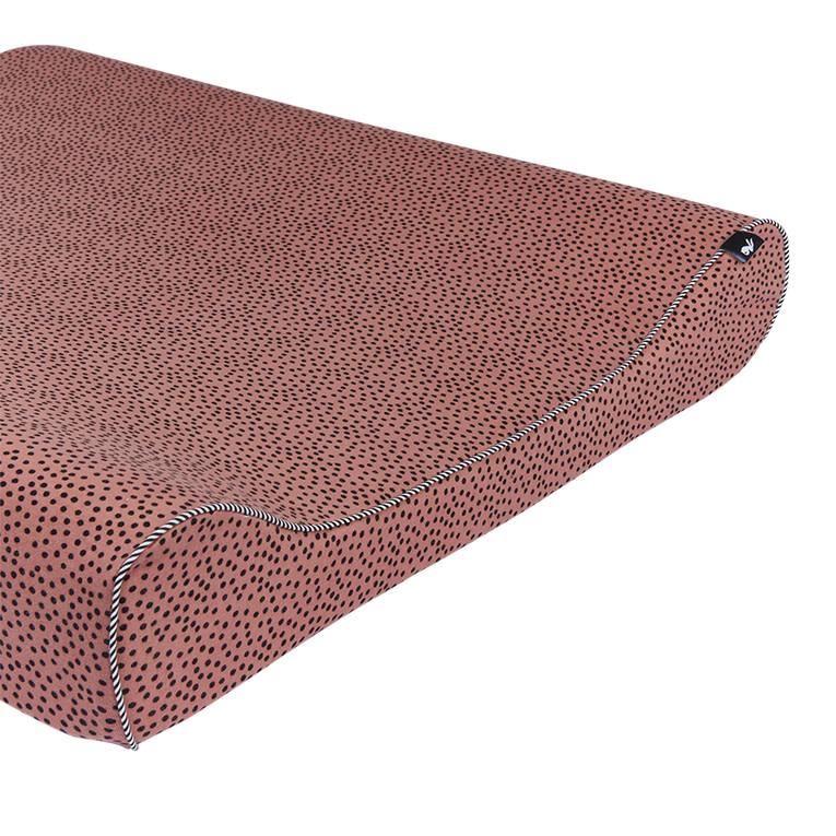 Mies & Co aankleedkussenhoes cozy dots redwood-1