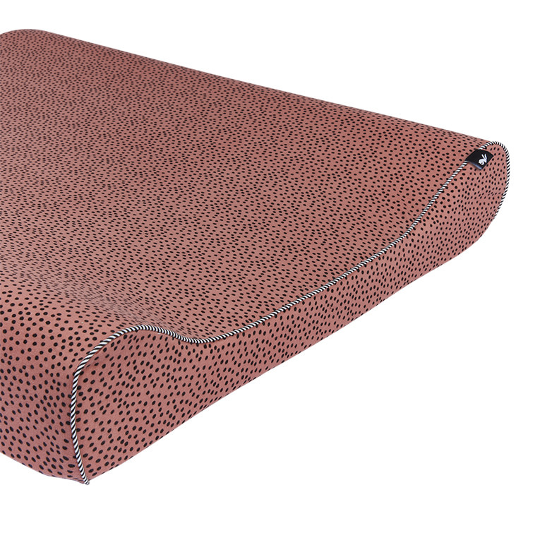 Mies & Co aankleedkussenhoes cozy dots redwood-2