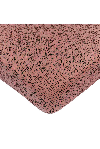Mies & Co wieg hoeslaken cozy dots redwood