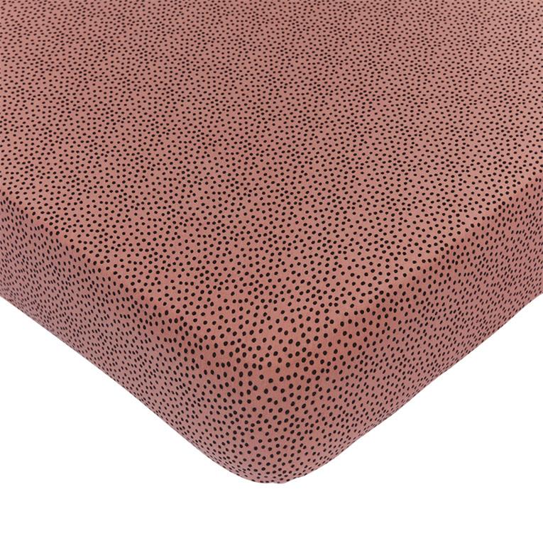 Mies & Co ledikant hoeslaken cozy dots redwood-1