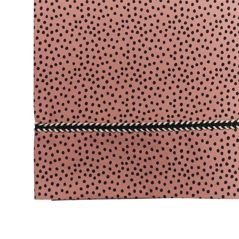 Mies & Co ledikant laken cozy dots redwood-2