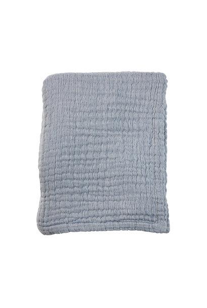 Mies & Co wieg deken mousseline blue
