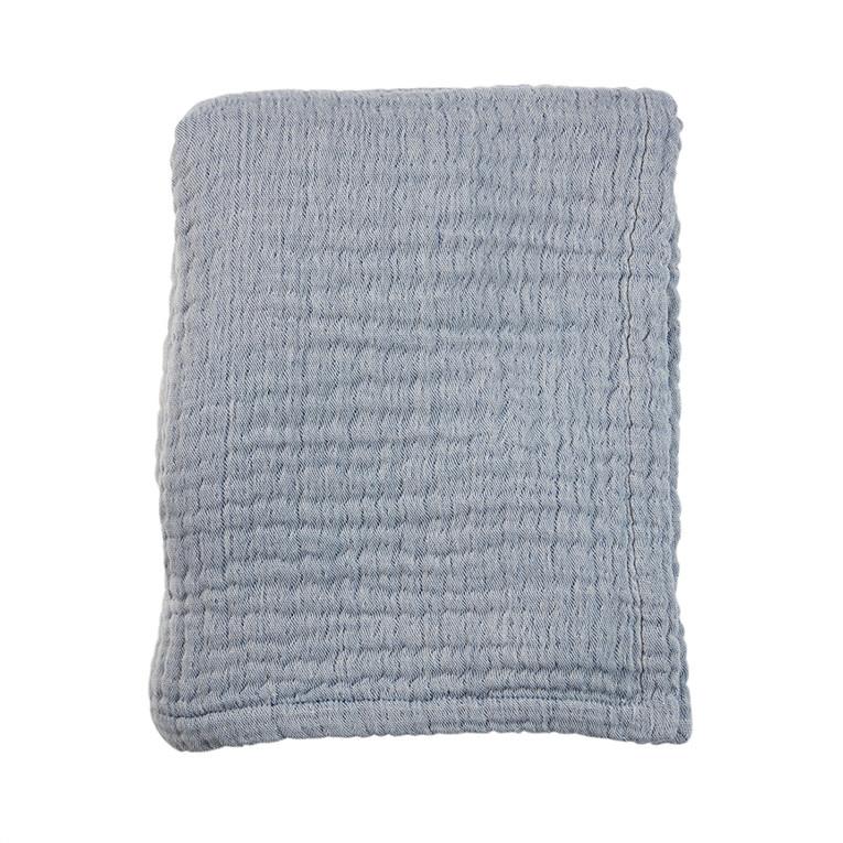 Mies & Co wieg deken mousseline blue-1