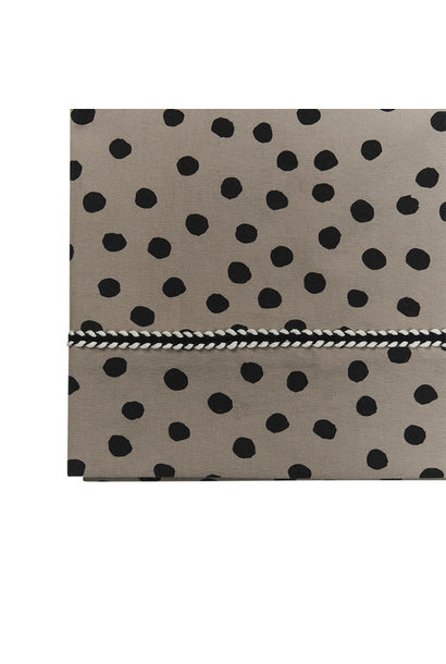 Mies & Co ledikant laken bold dots dark brown