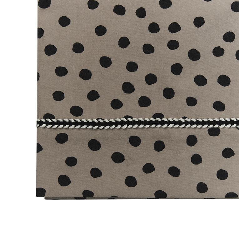 Mies & Co ledikant laken bold dots dark brown-1