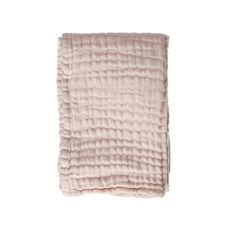 Mies & Co wieg deken mousseline soft pink-1