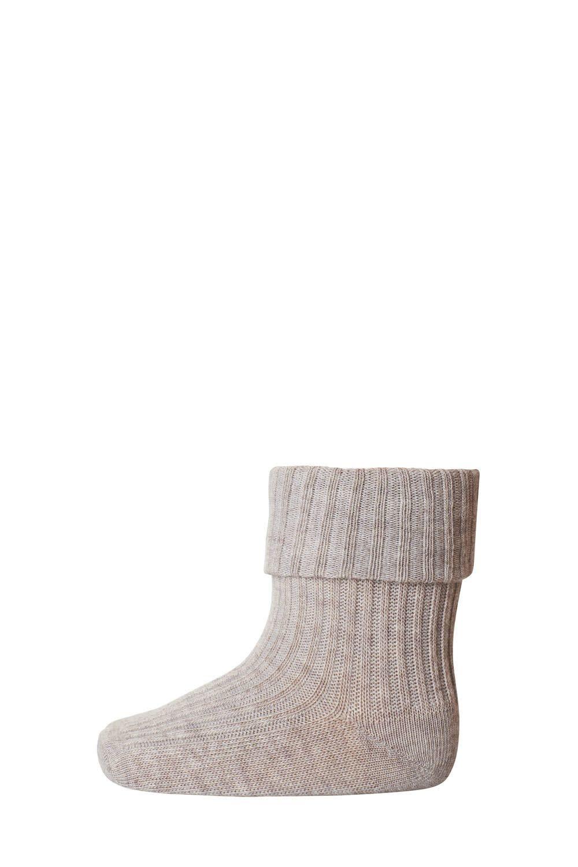 MP Denmark cotton rib sokjes - 489 light brown melange-1